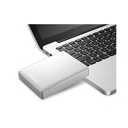 Hard disk esterno portatile da 500 GB con interfaccia USB 3.0, WI-FI, compatibile con Android, Apple iOS, Mac, PC. Peso: 190 g. Colore: Bianco.